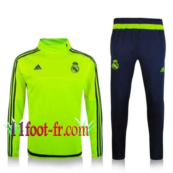 Nouveaux: 11Foot-fr Survetement FC Real Madrid Homme 2015-16 Vert  Fluorescent