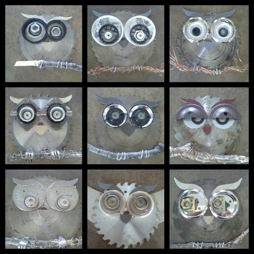 Recycled owls #wonders in wire