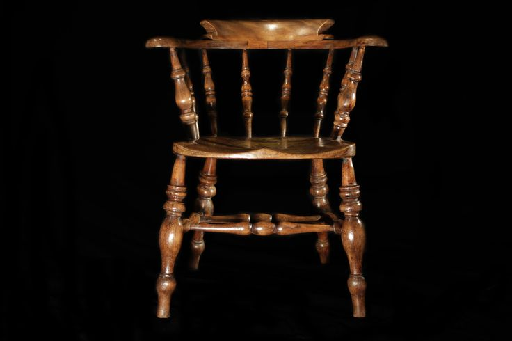 Antique Victorian Smokers Bow Kitchen Chair After waxing with Gilboys Rose Gold Fine Furniture Wax