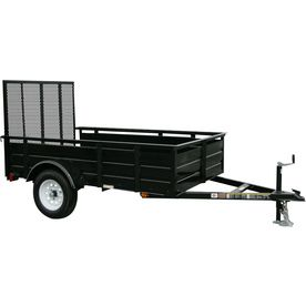 Carry-On Trailer 5-Ft X 8-Ft Steel Utility Trailer With Ramp Gate 5X8l