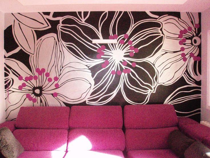 Mural pintado a mano por Nieves Miranda!!