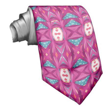 Trendy colorful pattern necktie