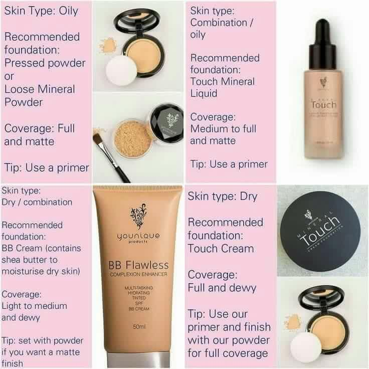 Need help with deciding which foundation is best for your skin type and the coverage you need...here's some tips