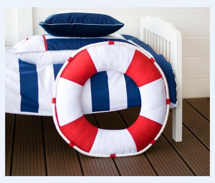 www.fabrykapoduszek.com.pl  #pillow #poduszka #pościel #room #dziecko #kids #koło ratunkowe #nautical