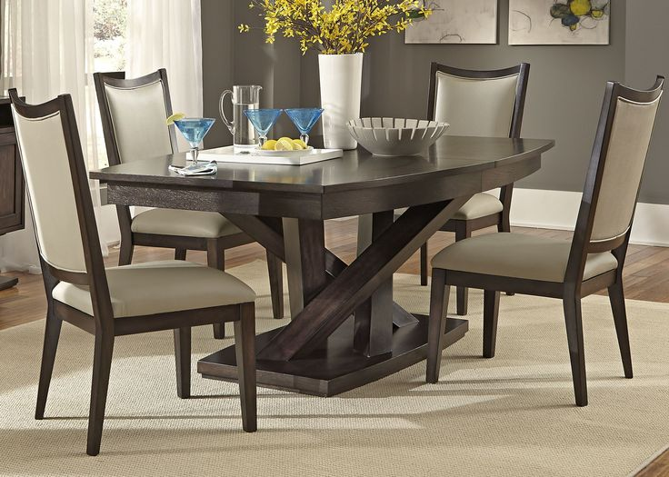 Shop For The Liberty Furniture Southpark Rectagle Pedestal Dining Table At Pilgrim City
