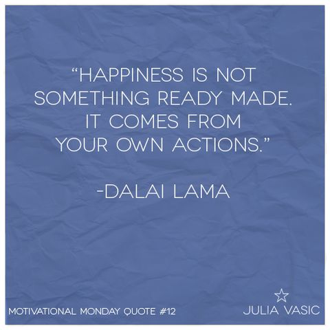 Motivational Monday Quote #12! #juliavasic #motivation #quote #dalailama