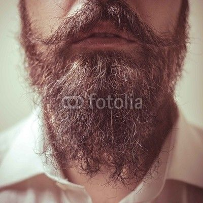 Close up of long beard and mustache from $1