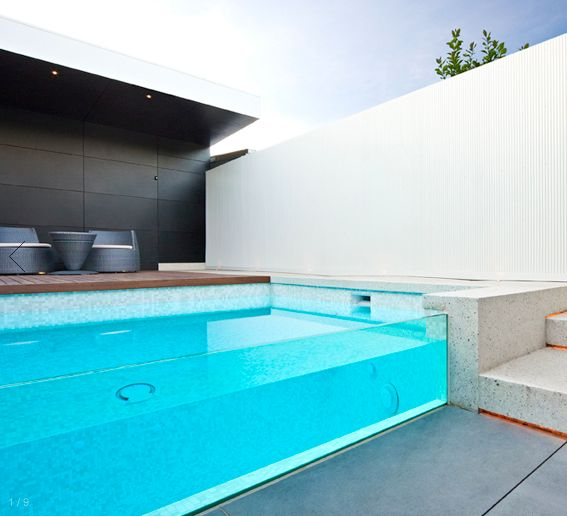Ah - the glass side for the pool is just exceptionally cool!