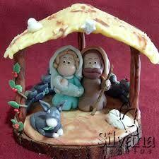 Resultado de imagen para centro de mesa navideño en porcelana fria