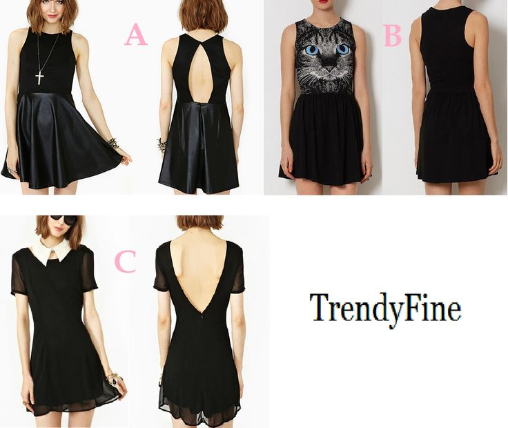 Mi piacerebbe un vestitino nero da mettere con calze nere coprenti! Voi che dite: A, B o C?  A:http://urly.it/2qlu B:http://urly.it/2qlv C:http://urly.it/2qlt