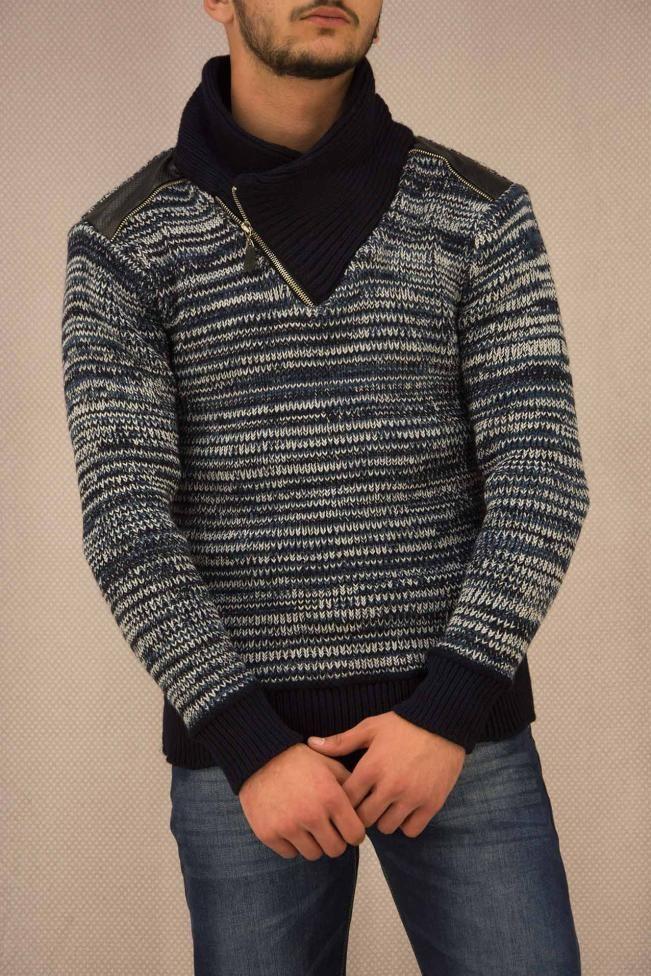 Ανδρικό πουλόβερ ψαροκόκαλο  PLEK-2693 Πλεκτά - Πλεκτά και ζακέτες