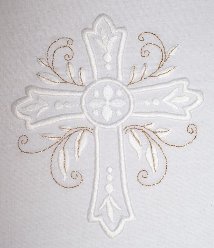 embroidered cross