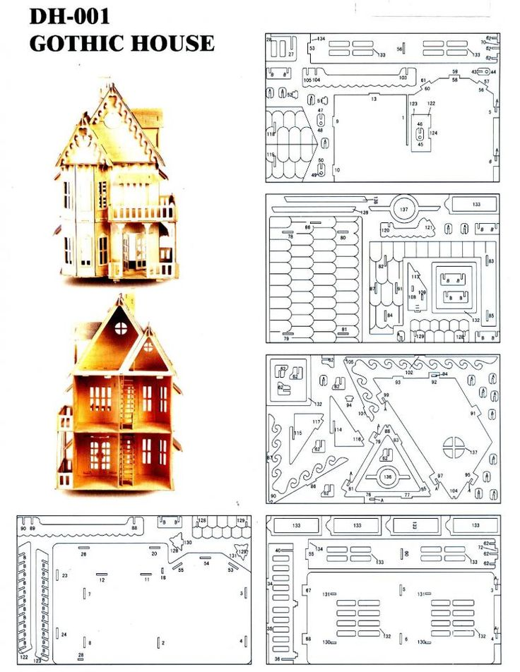 DXF Plans Downloads - Gothic house