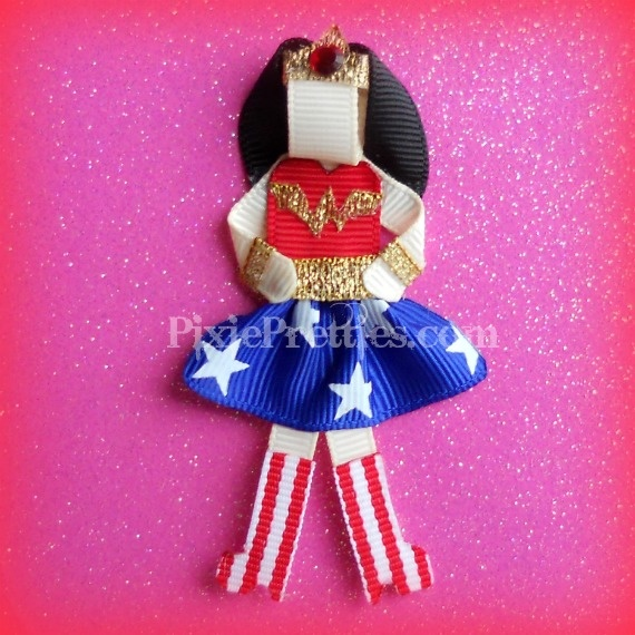 Wonder Woman Ribbon Sculpture