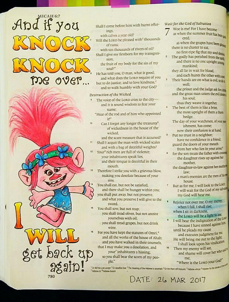 Bev Knaup bible journaling Micah 7:8