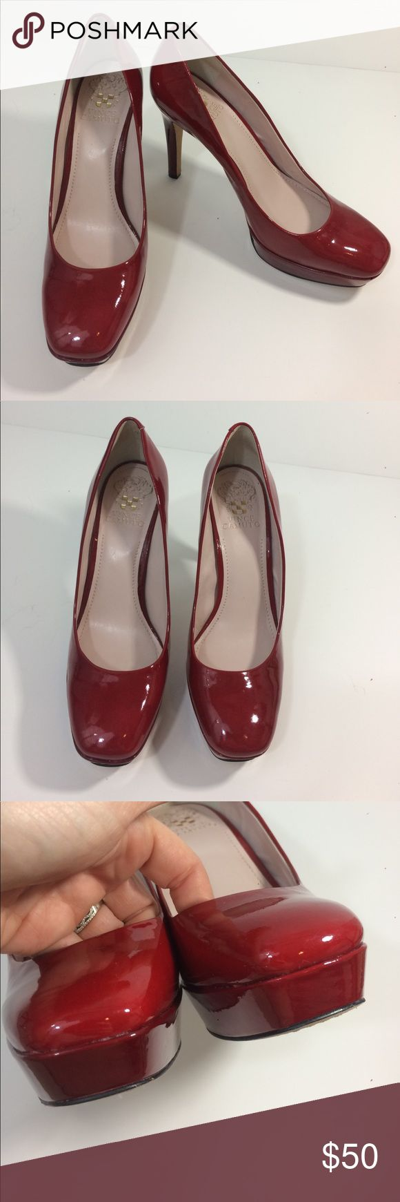 Vince Camuto red heels Vince Camuto red platform heels. In like new condition. No scuffs or marks. Vince Camuto Shoes Platforms