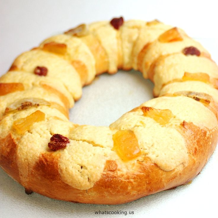 Rosca de Reyes is the traditional sweet bread that Mexicans eat with hot chocolate the morning of January 6th after opening presents.