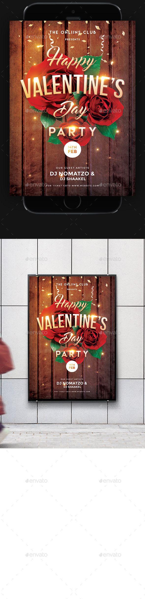 117 besten Valentine day Flyer Bilder auf Pinterest | Flyer vorlage ...