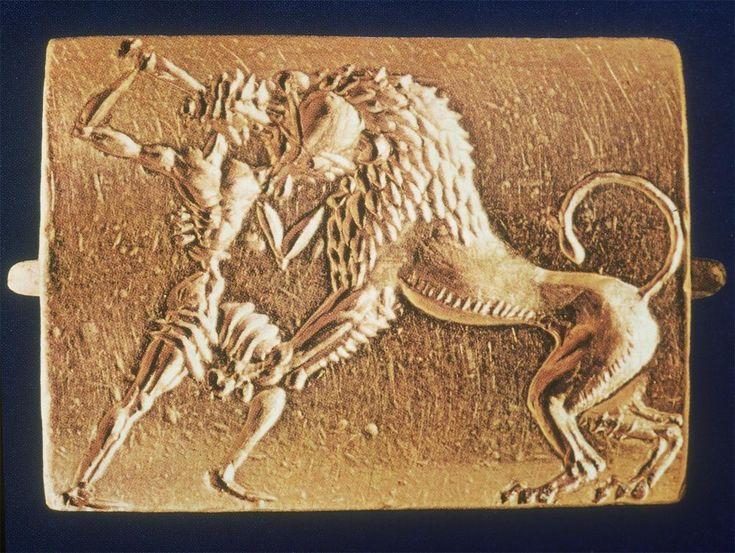 mycenaean lion cushionseal grave circle a shaft grave
