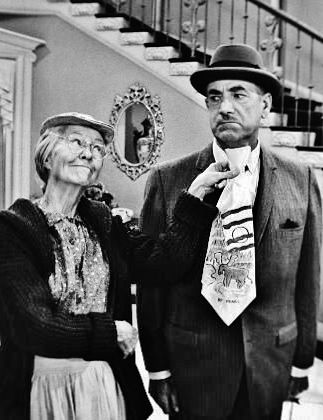 Irene Ryan Porn - Irene Ryan as 'Grannie' with 'Mr. Drysdale' (the banker) played by Raymond  Bailey on TVs The Beverly Hillbillies.