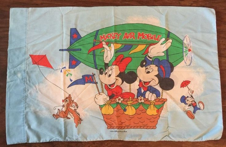 Vintage Mickey Mouse Air Mobile Pillowcase Pillow Case Fabric Chip n' Dale    eBay