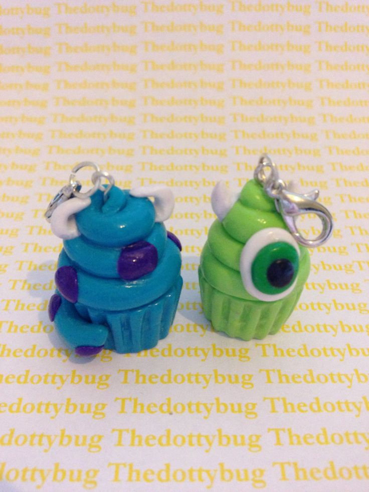 monsters+inc+inspired+mike+cupcake+polymer+clay+by+TheDottyBug,+£3.50