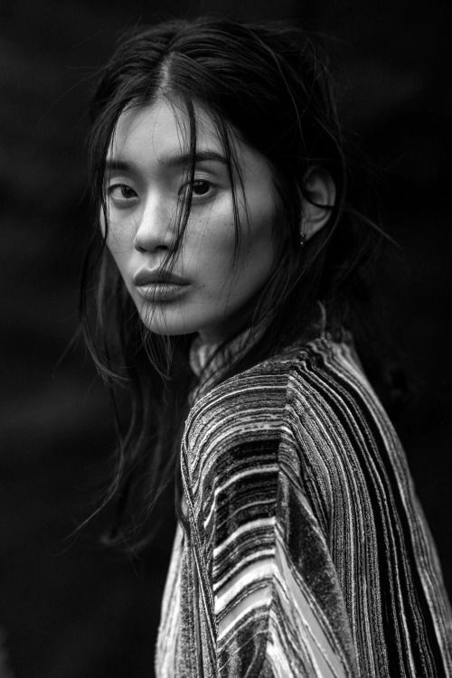 "senyahearts:  Ming Xi by Gilles Bensimon in ""The Silence Of The Sea"" for Vogue China, January 2016"