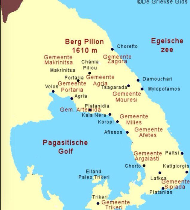 Kaart Pilion