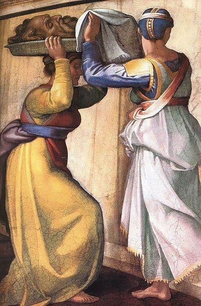 Michelangelo Buonarroti (1475-1564) ~ Detail fresco in Sistine Chapel ~ Judith and Holofenes ~1509