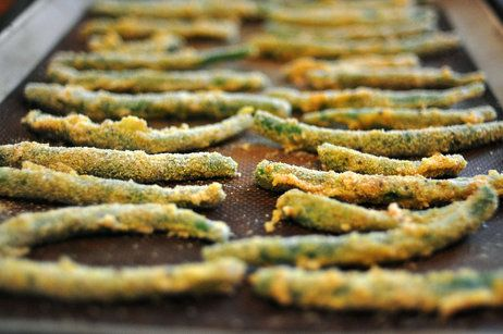 Cornmeal-crusted green beans from the Cheap And Good cookbook. Cooking healthy on a food stamp budget. Download the FREE pdf cookbook here. http://static.squarespace.com/static/52f120cfe4b0bf8fcb650b3e/t/538f9236e4b08b5c80ab24ed/1401918006810/good-and-cheap.pdf