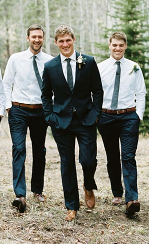 Let the groomsmen go jacket free! | Groomsmen Attire
