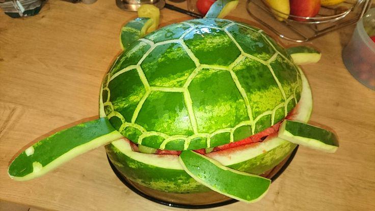 Wassermelone - Schildkröte