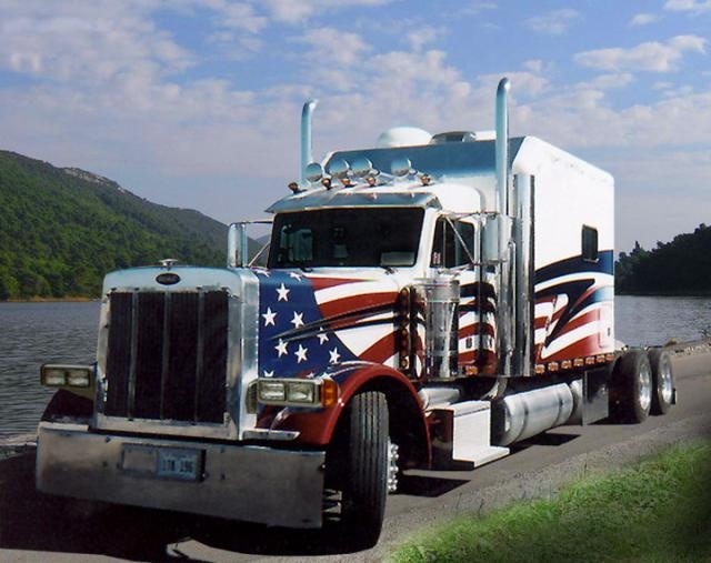 American trucking #trucking #truck #flag www.crcint.com