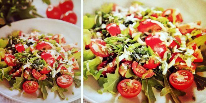 Салат с пармезаном и помидорами черри #отАдоЯ #салат #сыр #помидоры  #aia.com.ua...#вкусно #рецепты