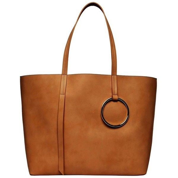 Women's Urban Originals Soul Vegan Leather Tote (285 PEN) ❤ liked on Polyvore featuring bags, handbags, tote bags, tan, tote purses, brown purse, vegan leather tote bag, brown tote and vegan purses