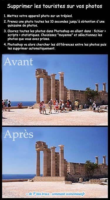 Comment ? C'est tout simple. Il vous suffit de prendre quelques photos, et de laisser faire la magie Photoshop ! Découvrez l'astuce ici : http://www.comment-economiser.fr/supprimer-photos-touristes.html?utm_content=buffer6d318&utm_medium=social&utm_source=pinterest.com&utm_campaign=buffer