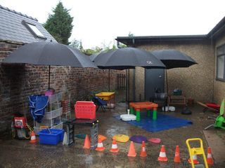 outdoor area for the British weather #abcdoes