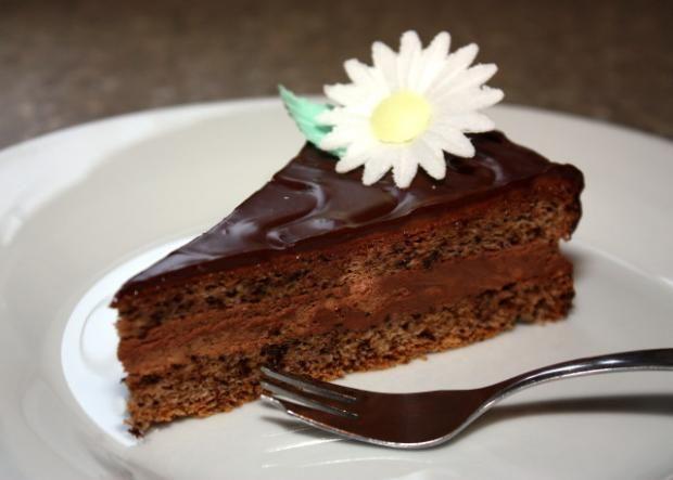 Jednoduchá orechovo čokoládová torta