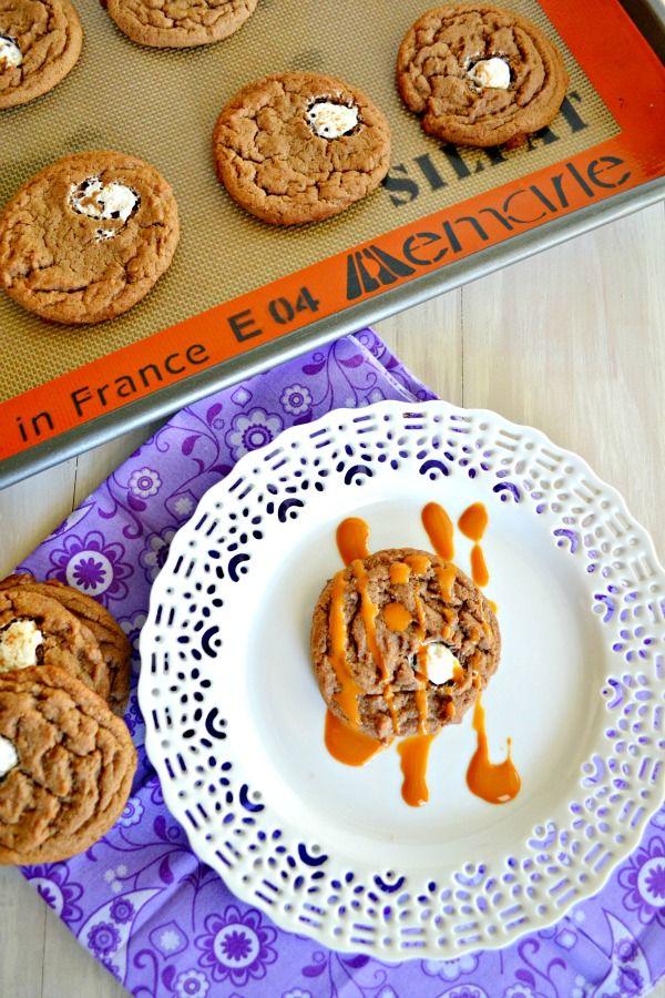 Chocolate Caramel Marshmallow Cookies and Kernel Season's