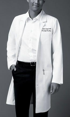 """83403 Dickies Unisex Professional White 40"""" Lab Coat"""