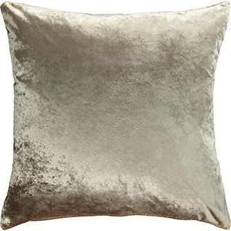 Mushroom Brown Velvet Cushion