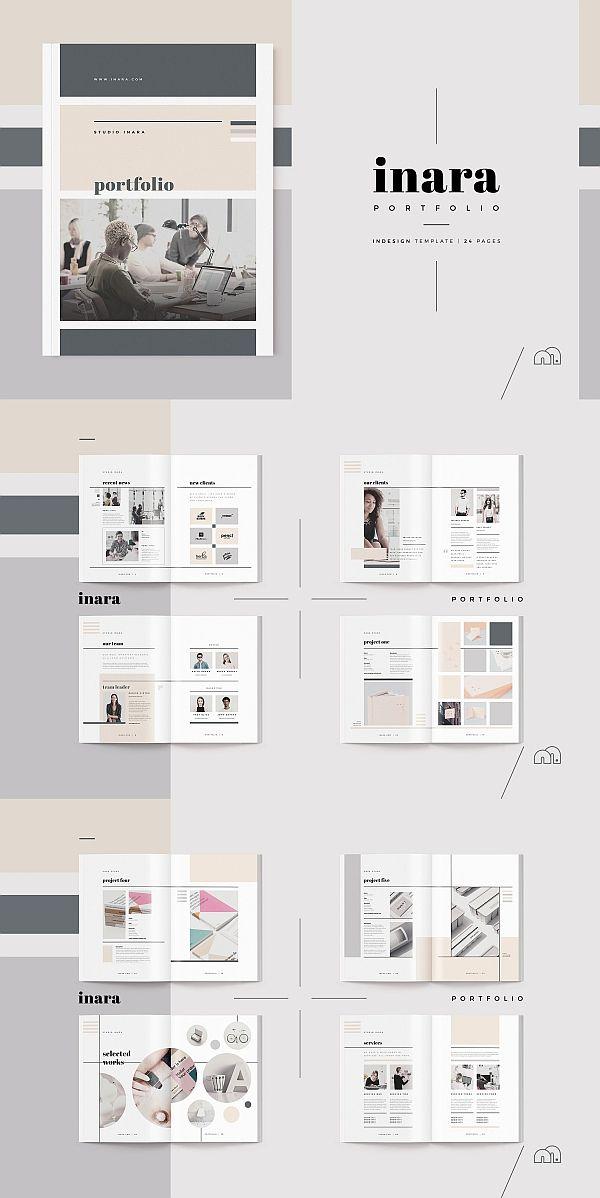 Inara Portfolio Lookbook Brochure 24 Pages Portfolio Design Layout Architecture Portfolio Design Architecture Portfolio Layout