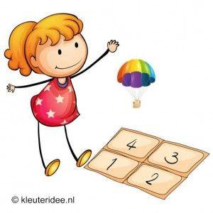 Parachute werpen, outdoor spelen voor kleuters, kleuteridee.nl , outdoor games preschool