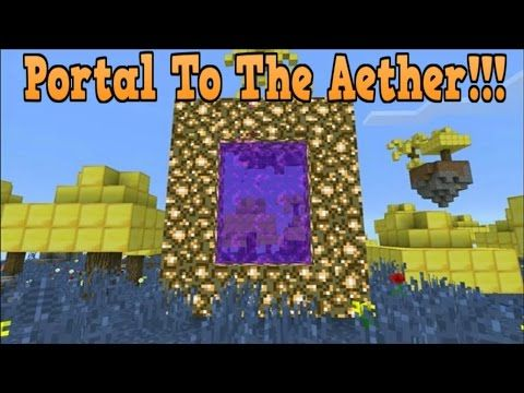 Minecraft Pe How to Make An Aether Portal - McPe Portal To The Aether!!!