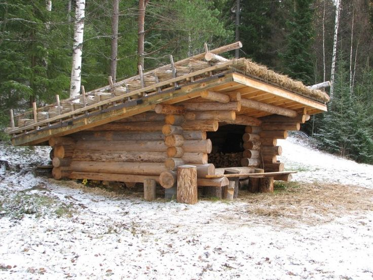 164 best semi permanent shelter images on pinterest for Small survival cabin