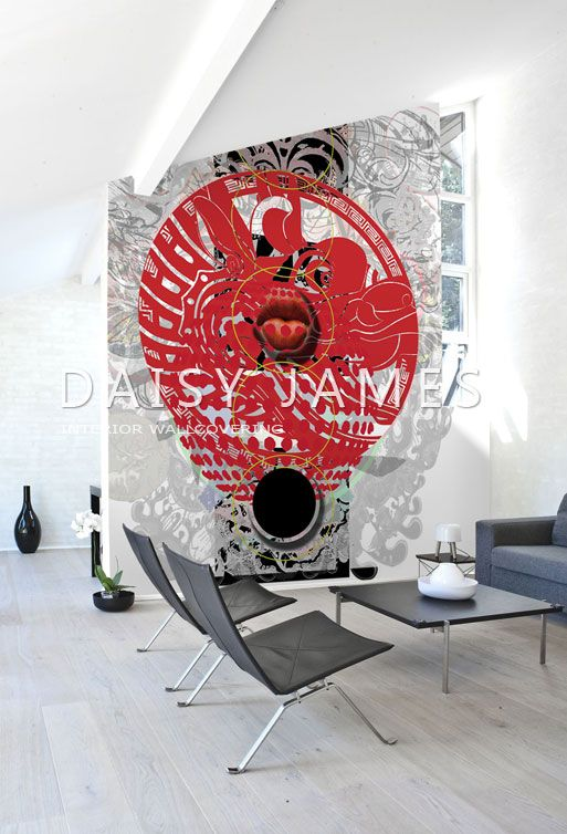 DAISY JAMES wallcover The Red