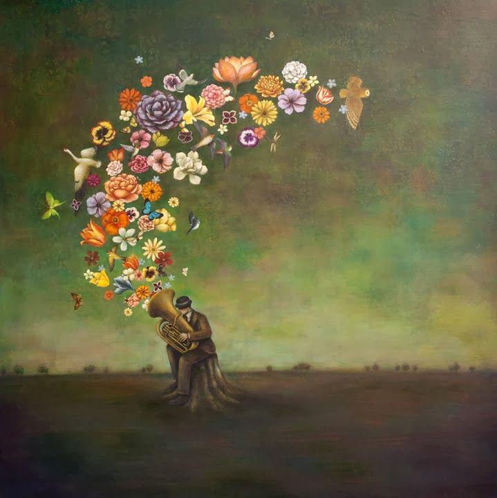 ...e il mondo fa paura ma in esso nuotano in un immenso acquario betulle volpi torrenti di fiori strade di campagna e case di legno e ancora i concerti di Brahms e i valzer di Chopin.  Jaroslaw Jwaszkiewicz