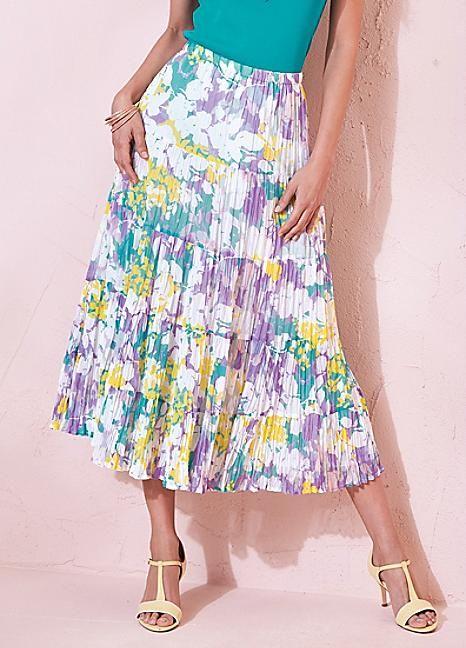 Crinkle Floral Skirt #kaleidoscope #hot #summer #heat
