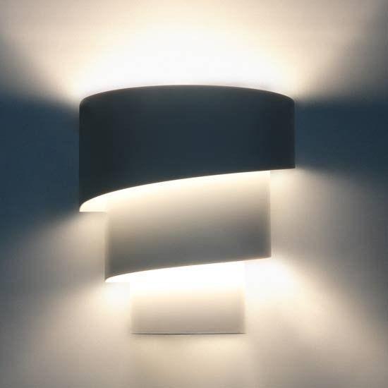 A++ à E Applique murale en forme de torche - une pièce ou en set de 2 - 1