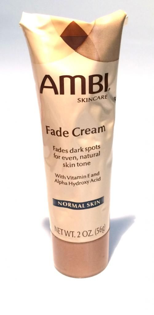 Ambi Skincare Fade Cream Review $6.49 US at Walgreens.  Allure Magazine said this product was wonderful at lightening dark spots, because it contains hydroquinone which is one of the top ingredients recommended by dermatologists to lighten spots.  Blogger tested it and she says it works!